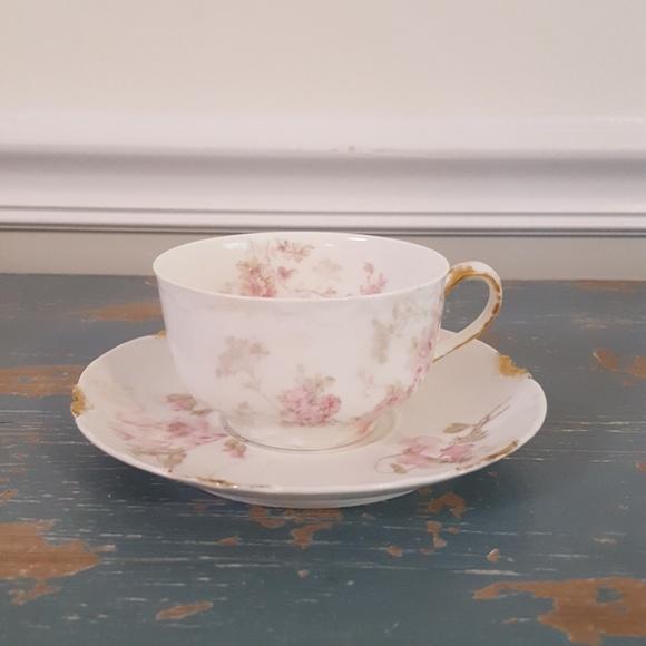 Vintage Haviland Limoges Teacup and Saucer